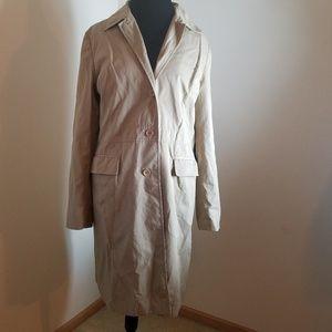 Ann Taylor Loft Cotton Blend Beige Trenchcoat